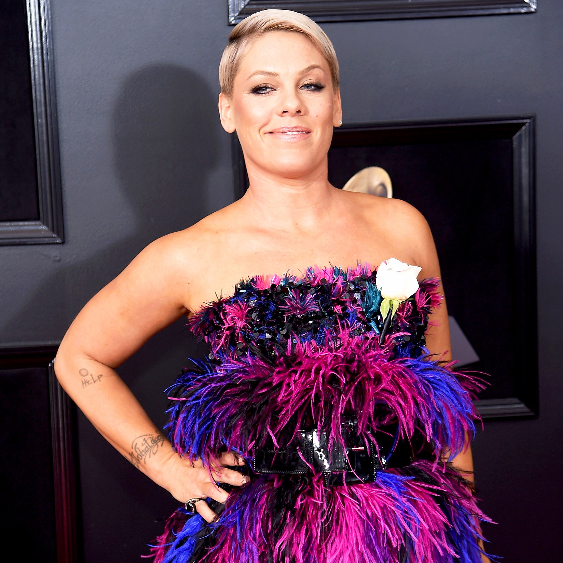 Pink attends the 60th Annual Grammy Awards at Madison Square Garden on January 28, 2018 in New York City.
