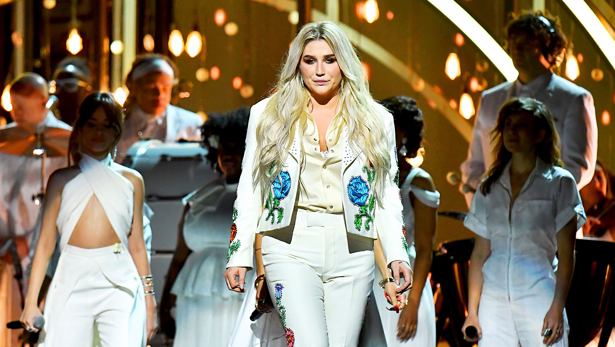 Kesha performs onstage during the 60th Annual GRAMMY Awards at Madison Square Garden on January 28, 2018 in New York City.