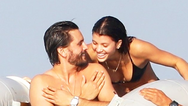 Scott Disick and Sofia Richie during their romantic getaway in Punta Mita, Mexico on January 17, 2017.