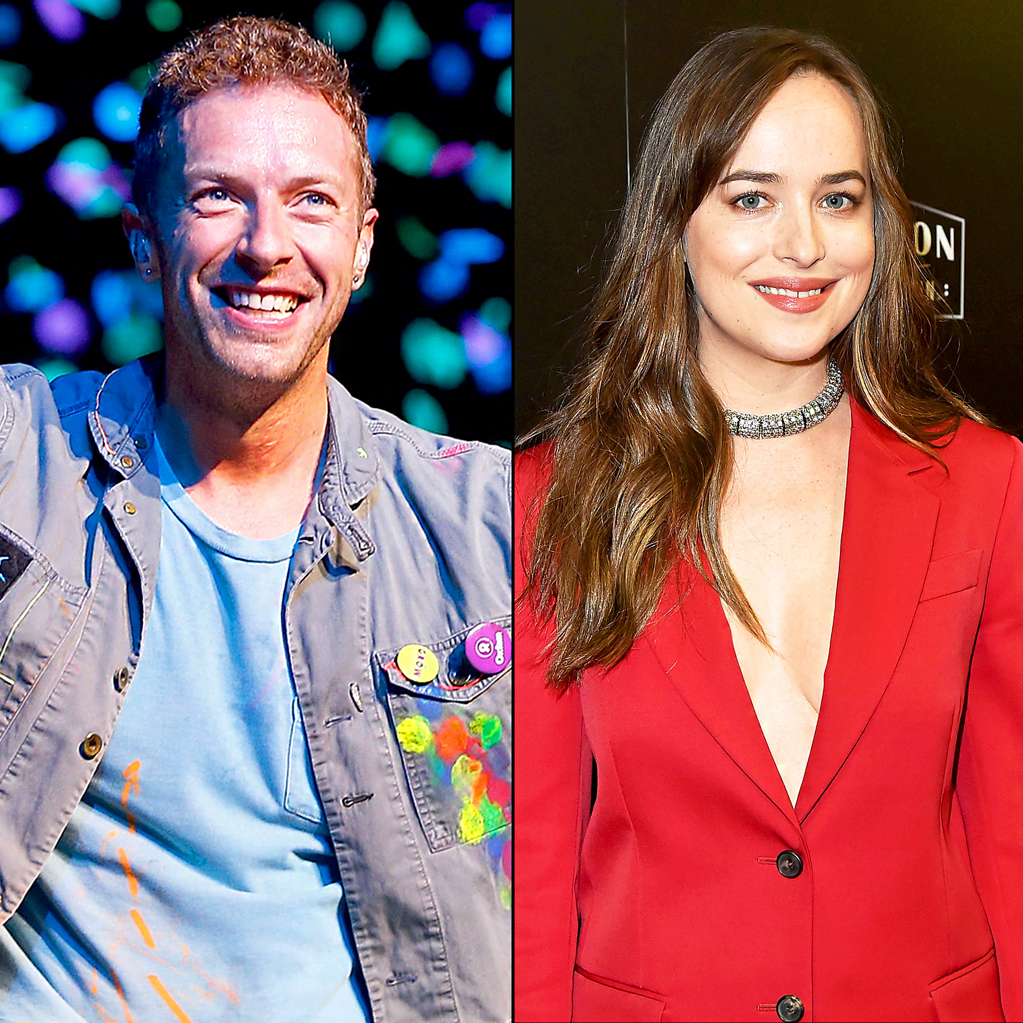 Chris Martin and Dakota Johnson