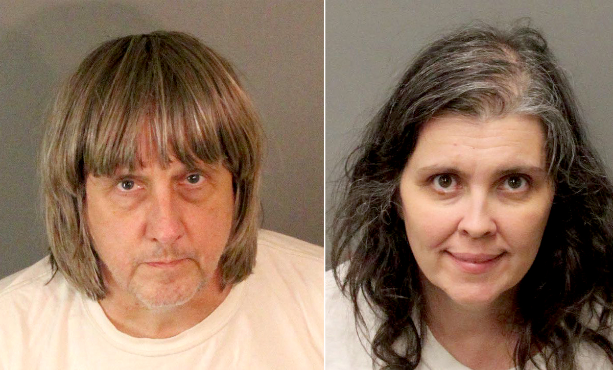 Tortured California siblings reportedly showered twice a year, ate once per day
