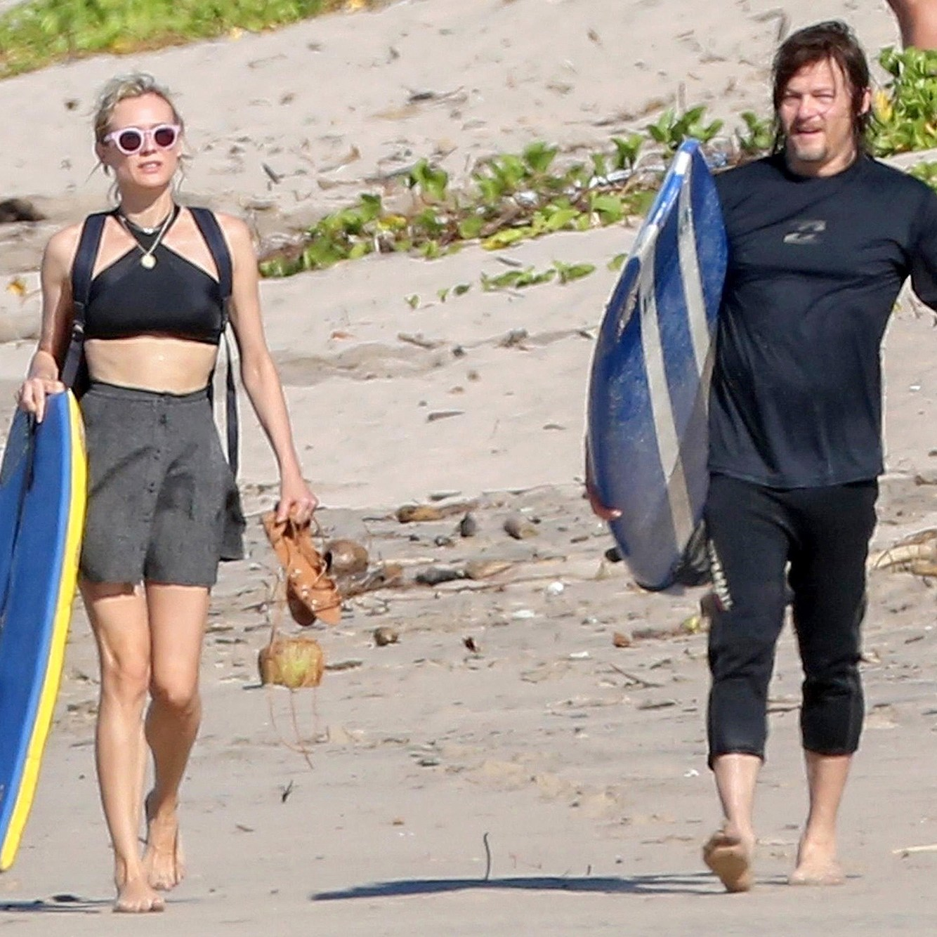 Diane Kruger, Norman Reedus, Beach, Costa Rica