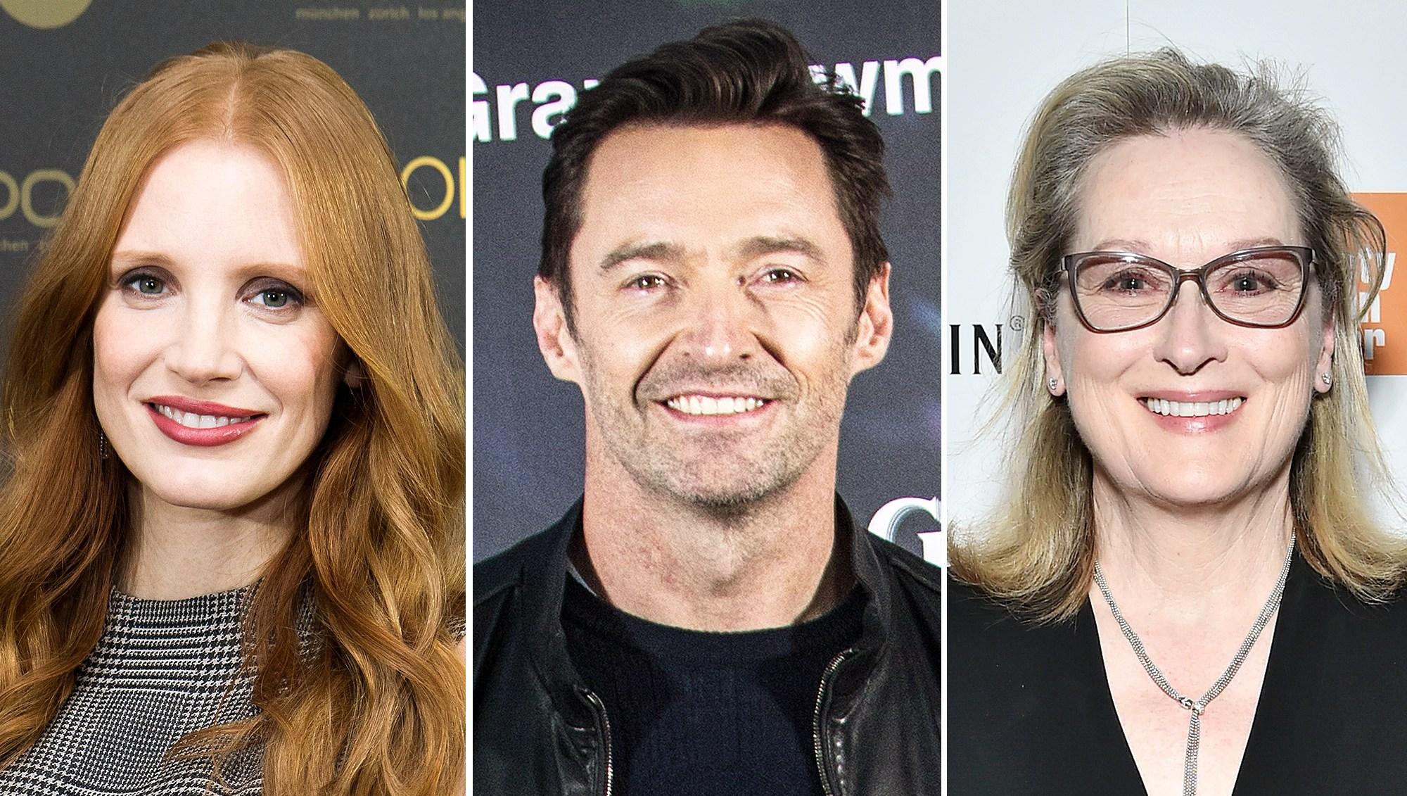 Jessica Chastain Hugh Jackman Meryl Streep Golden Globes 2018