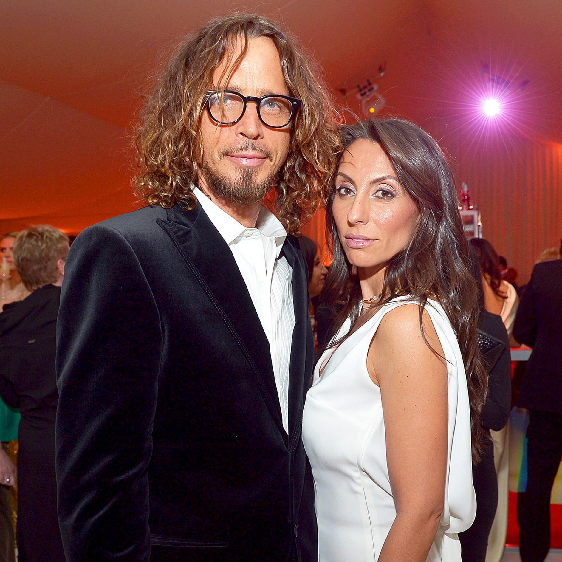 Chris Cornell and Vicky attend Neuro at 21st Annual Elton John AIDS Foundation Academy Awards Viewing Party at West Hollywood Park in West Hollywood, California.