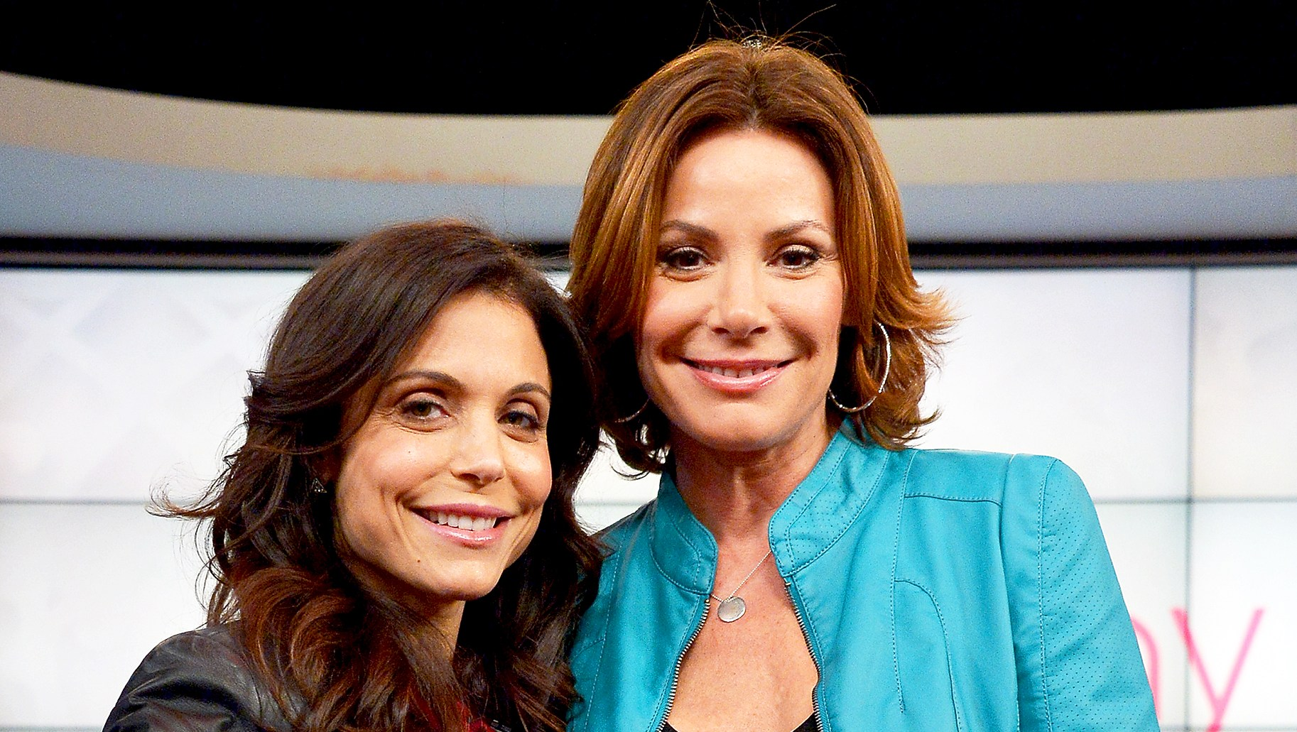 Bethenny Frankel and Luann de Lesseps at the CBS Broadcast Center in New York City.