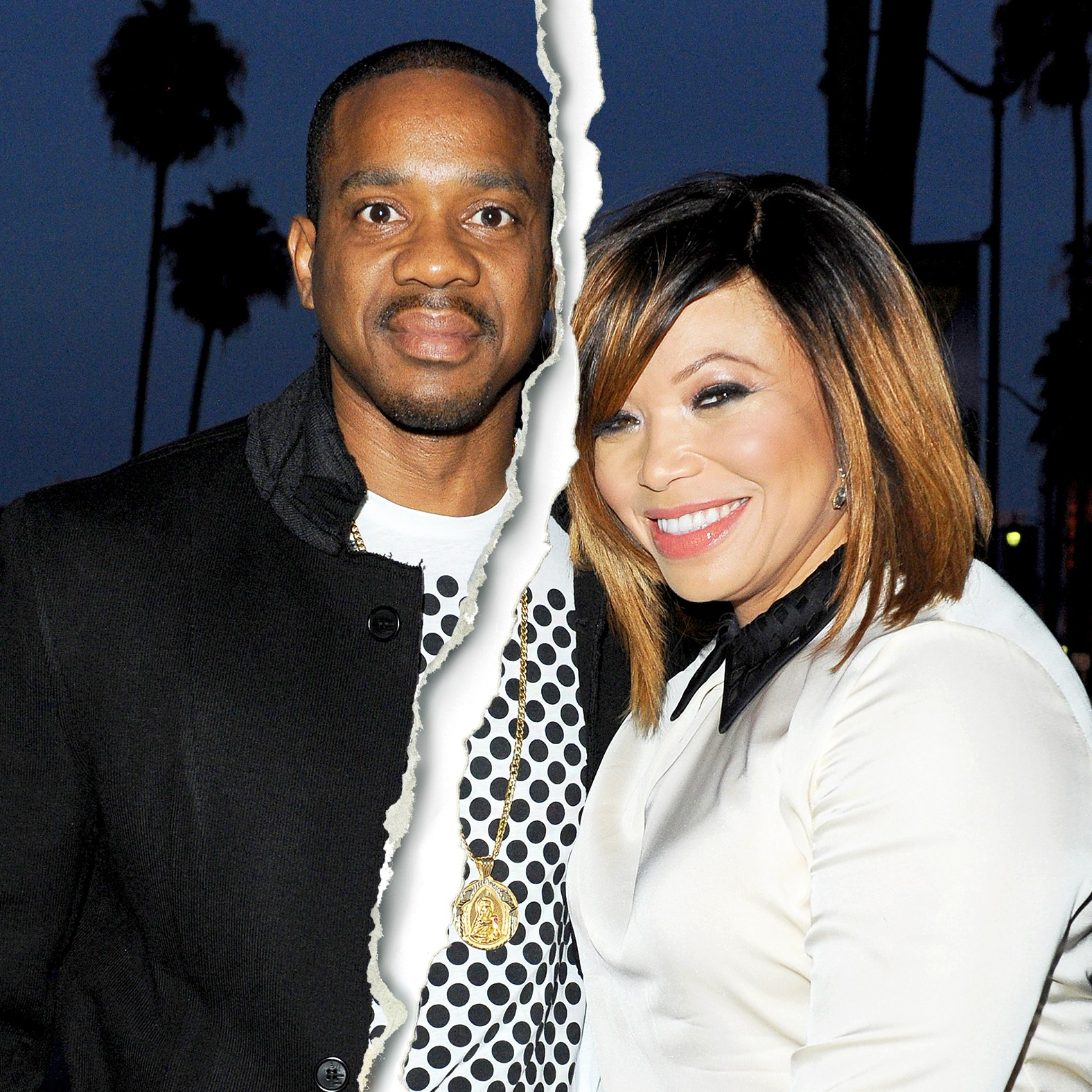Duane Martin and Tisha Campbell attend Vivica A. Fox's 50th birthday celebration at Philippe Chow in Beverly Hills, California.