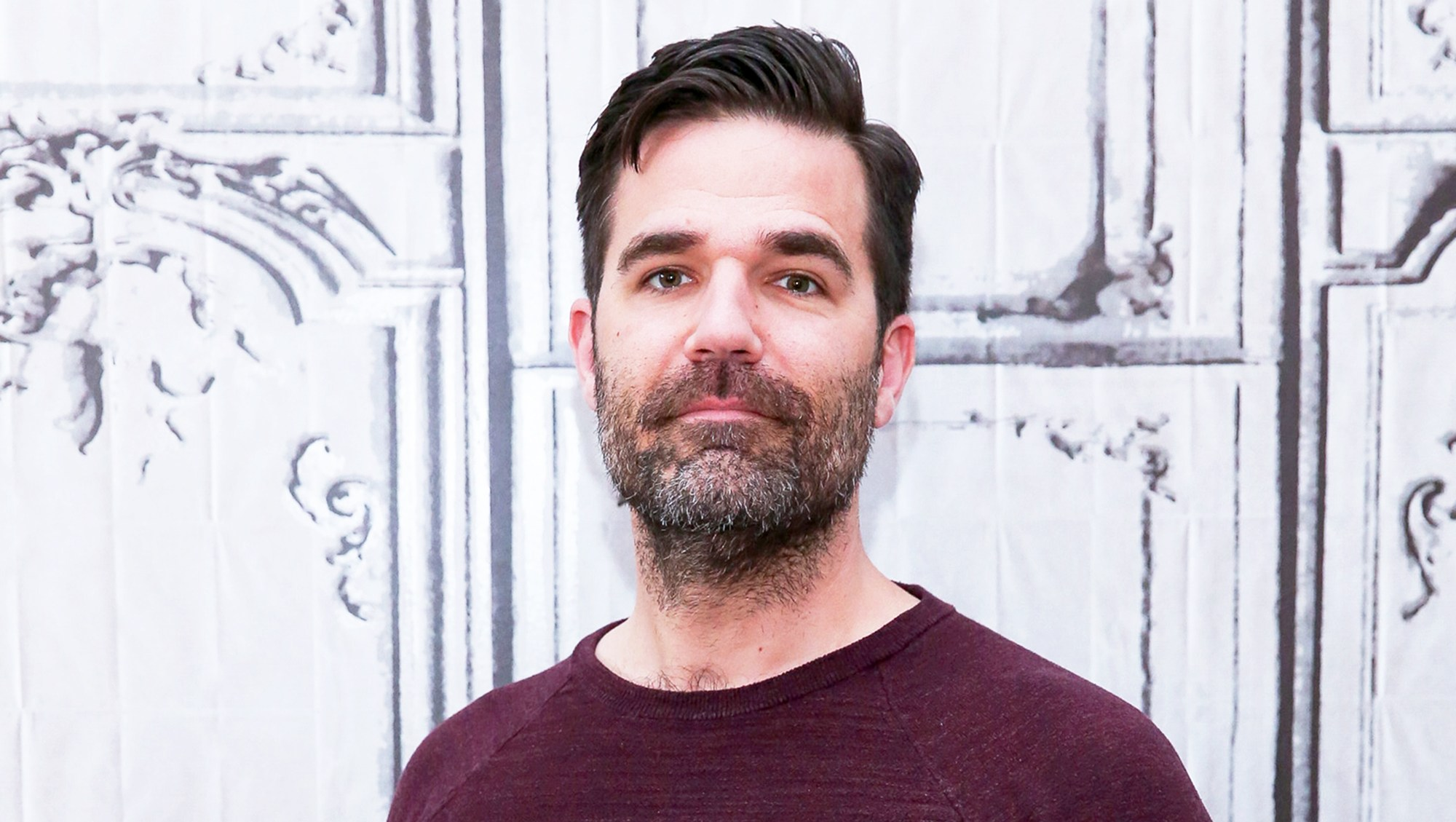 "Rob Delaney attends the AOL Studios series to discuss ""Catastrophe"" Season 2 in New York City."