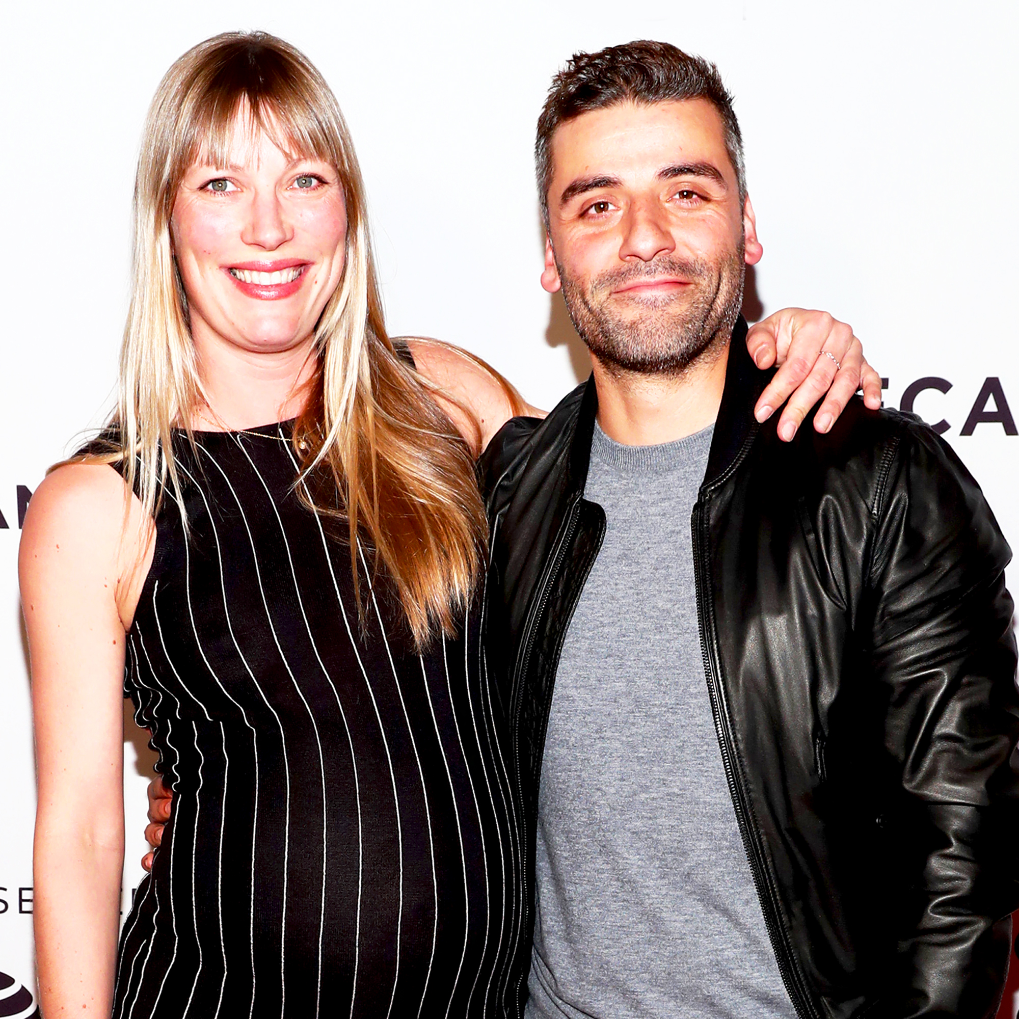 "Oscar Isaac and Elvira Lind attend the ""Bobbi Jene"" Premiere during 2017 Tribeca Film Festival at Cinepolis Chelsea in New York City."