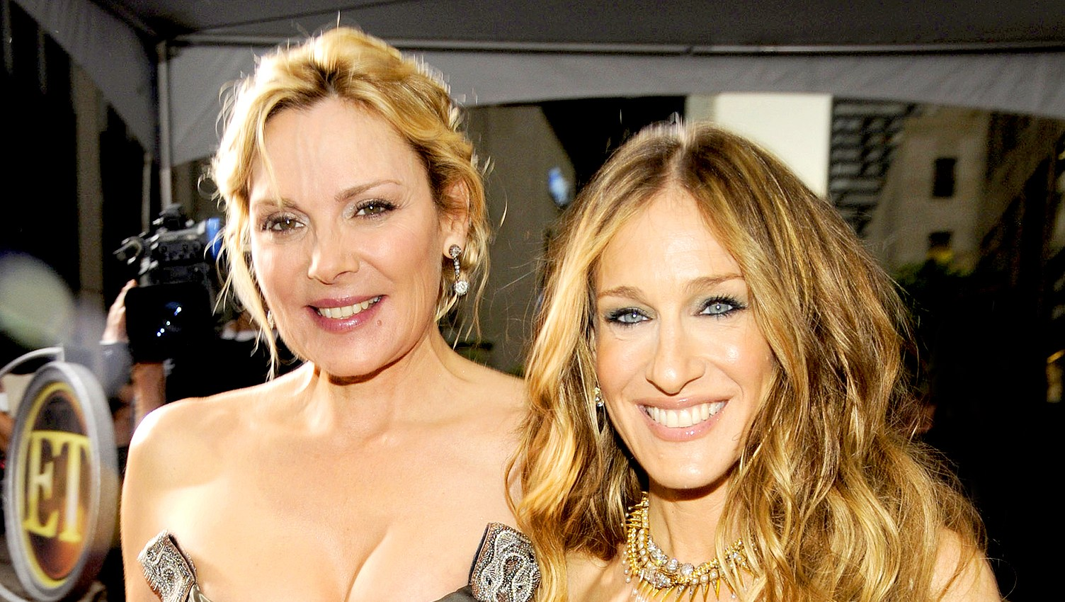 "Kim Cattrall and Sarah Jessica Parker attend 2008 premiere of ""Sex and the City: The Movie"" at Radio City Music Hall in New York City."