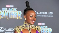 Lupita Nyong'o arrives for the World Premiere of Marvel Studios? Black Panther, presented by Lexus, at Dolby Theatre in Hollywood on January 29, 2018.