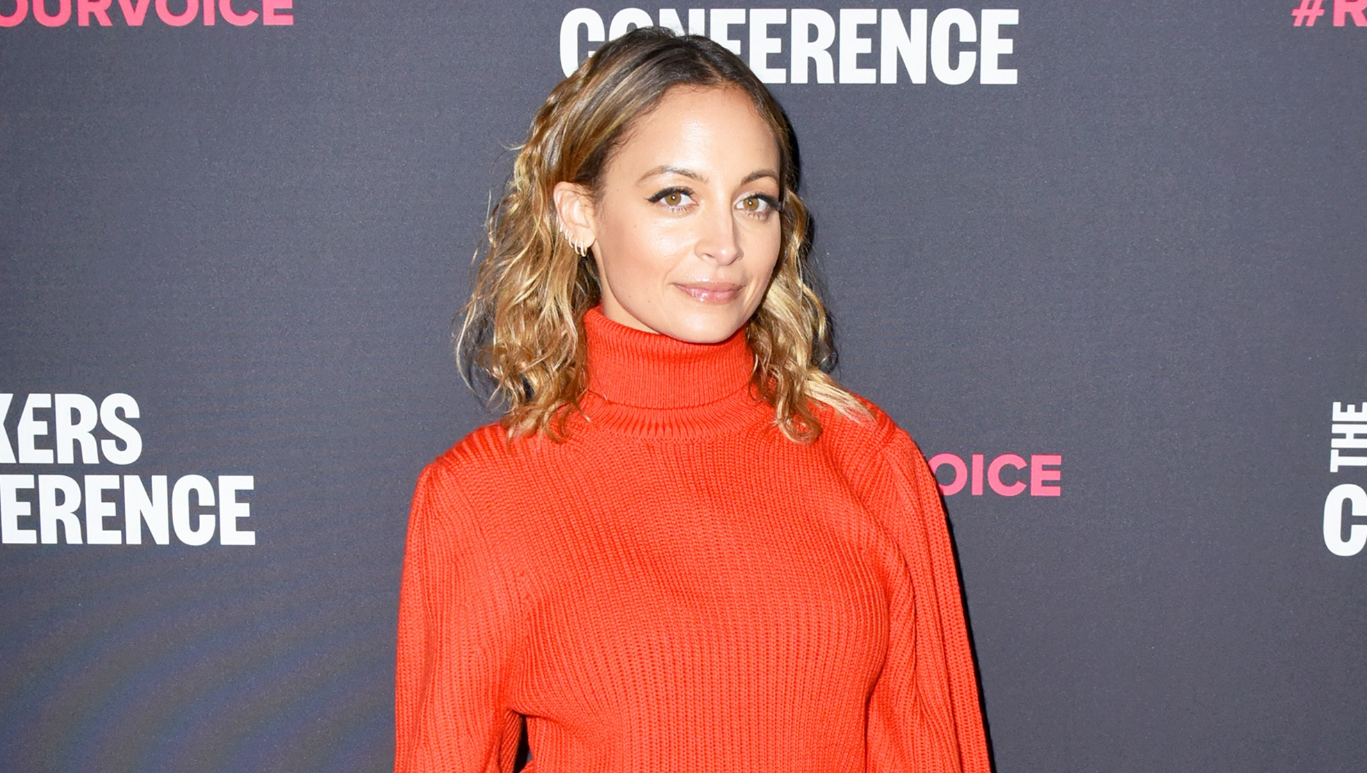 Nicole Richie attends The 2018 MAKERS Conference at NeueHouse Hollywood in Los Angeles, California.