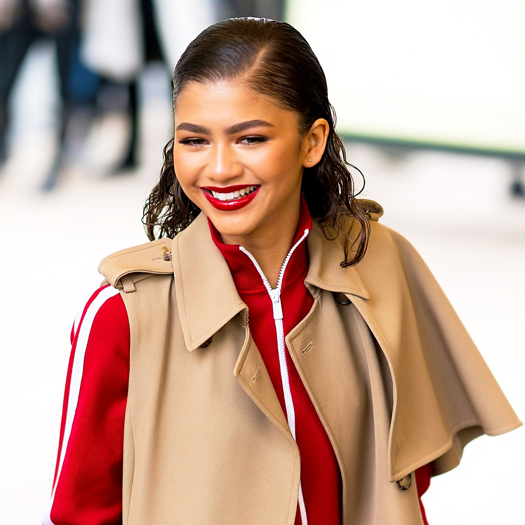 Zendaya attends the Michael Kors fashion show during New York 2018 Fashion Week at the Vivian Beaumont Theater at Lincoln Center in New York City.