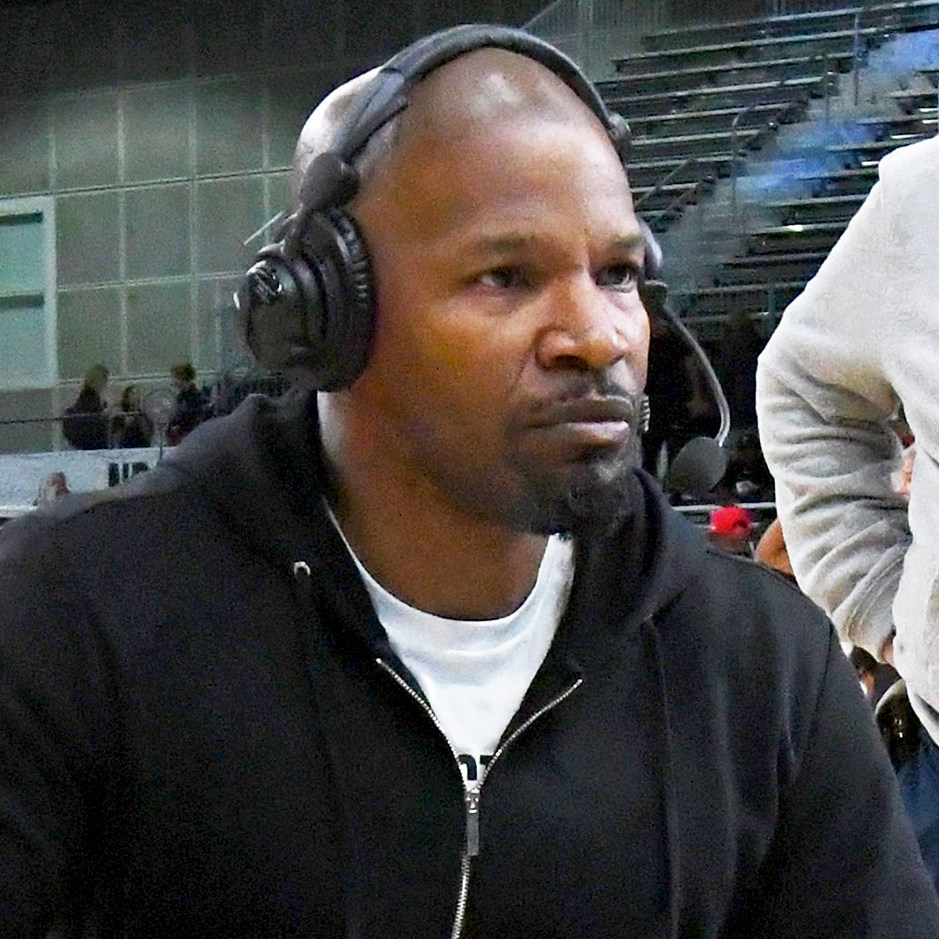 Jamie Foxx during the 2018 NBA All-Star Game Celebrity Game at Los Angeles Convention Center on February 16, 2018 in Los Angeles, California.