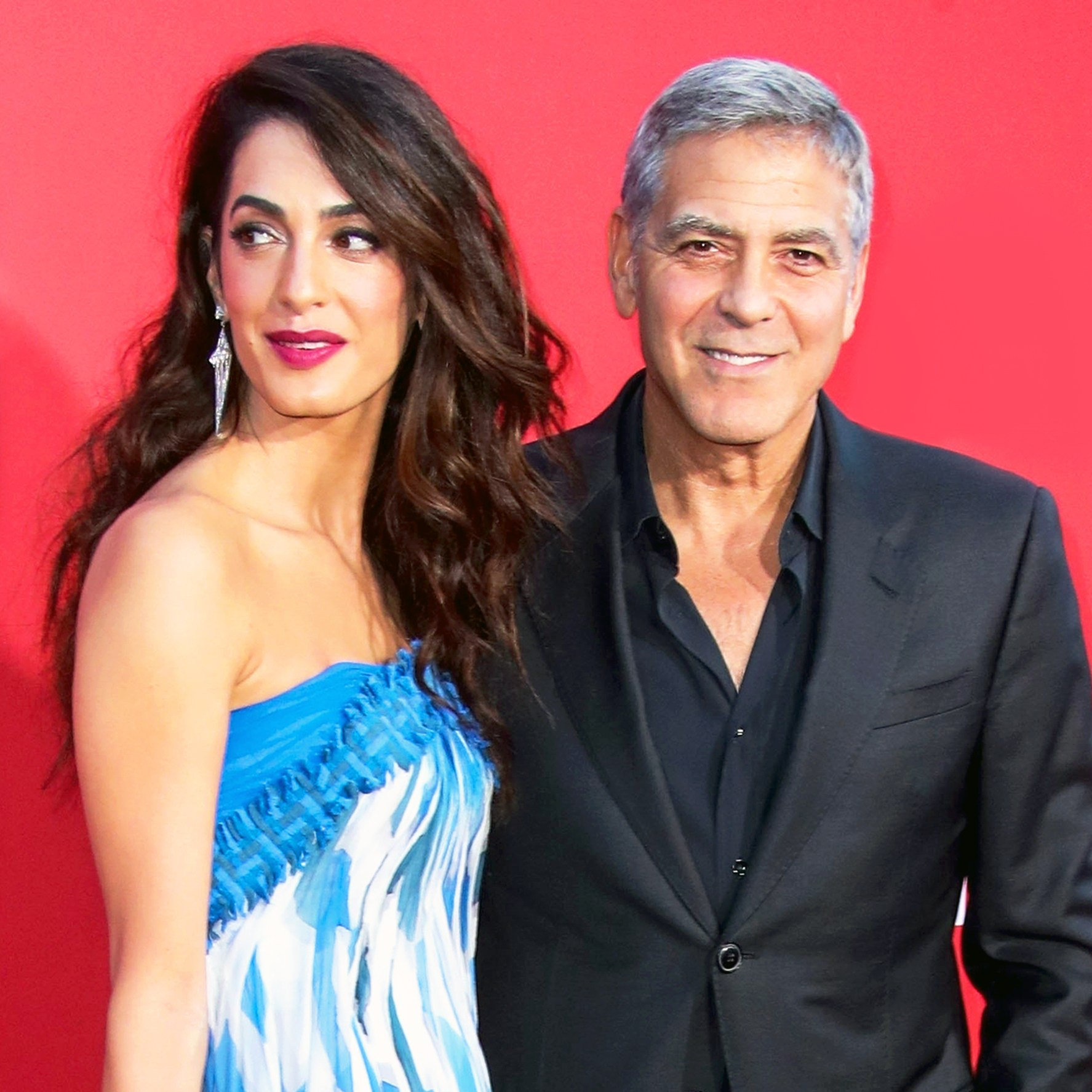 George Clooney and wife Amal arrive at the 2017 premiere of Paramount Pictures' 'Suburbicon' at Regency Village Theatre in Westwood, California.
