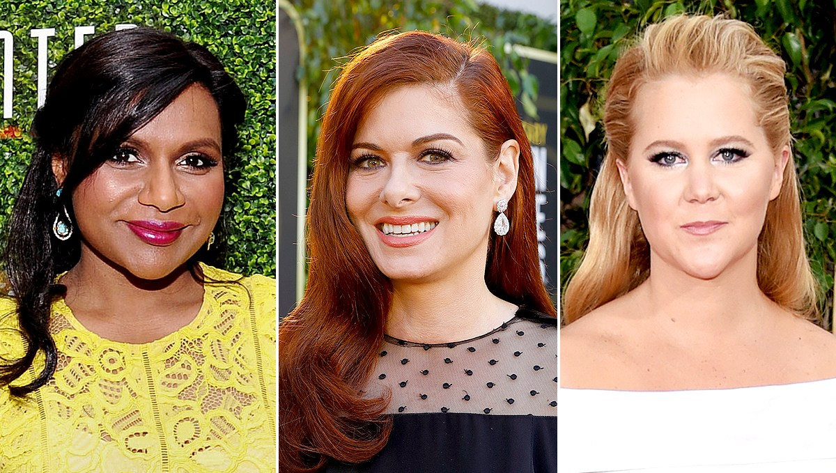 Mindy Kaling and Debra Messing congratulate Amy Schumer