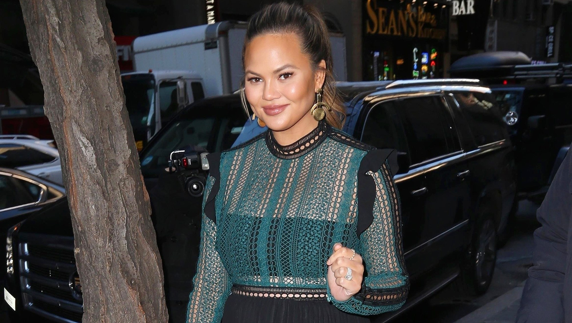 Chrissy Teigen, Pregnant, Sucking the Life From Me
