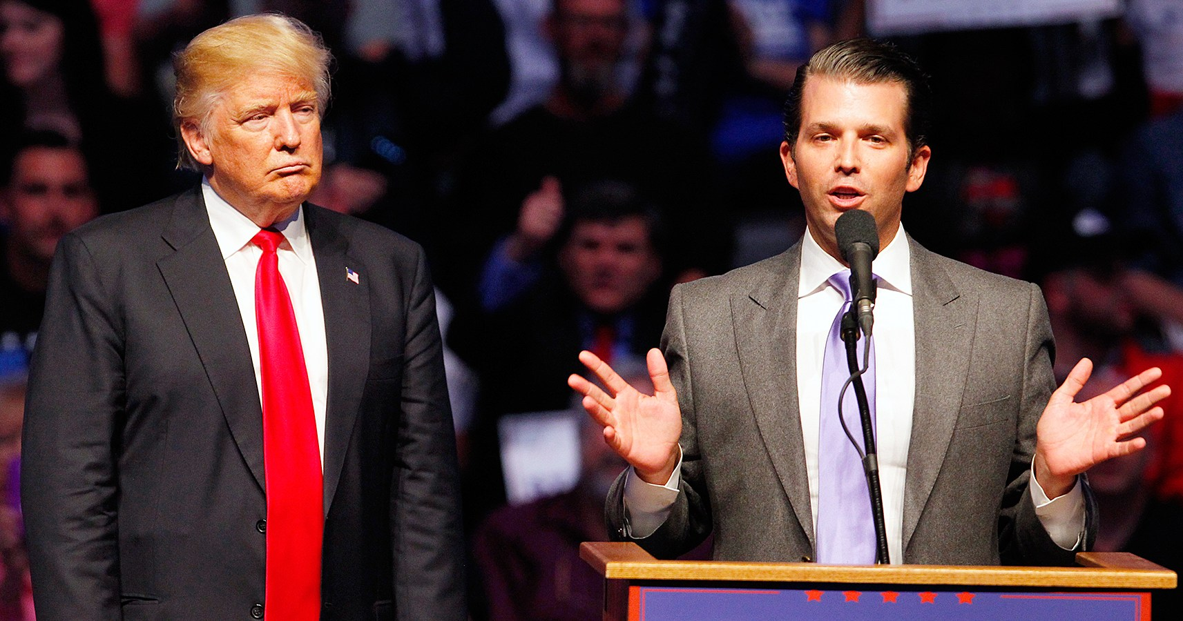 Image result for images of Trump and Trump Jr.