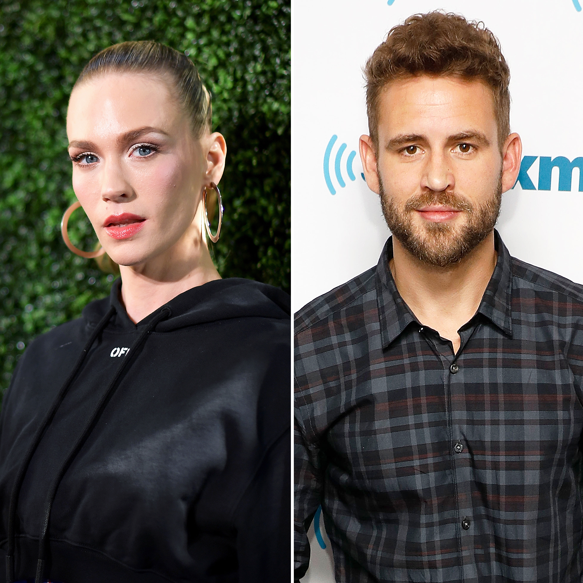 January Jones Denies Dating Nick Viall, Says They're Just Friends