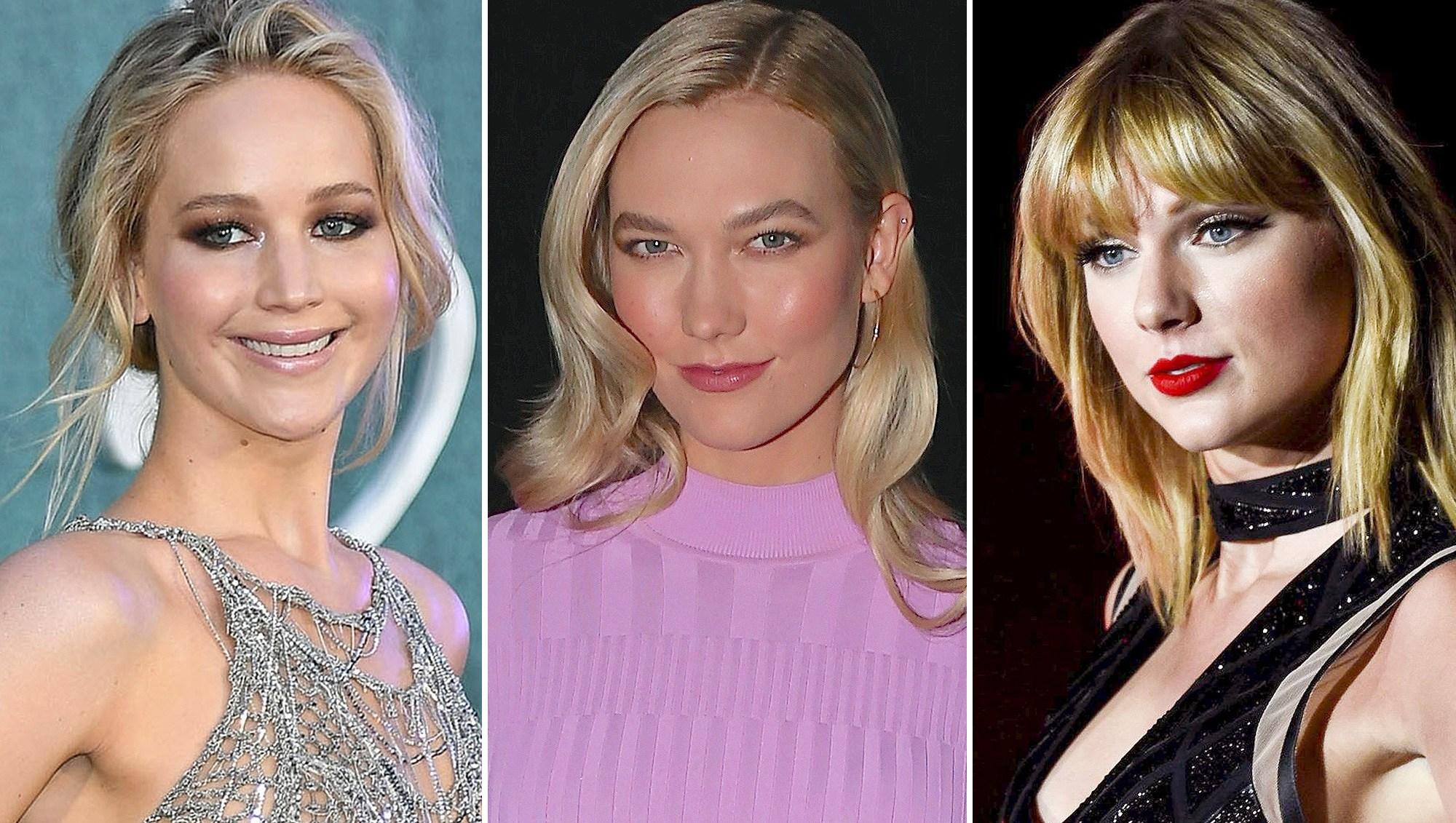 Jennifer Lawrence, Karlie Kloss, Taylor Swift