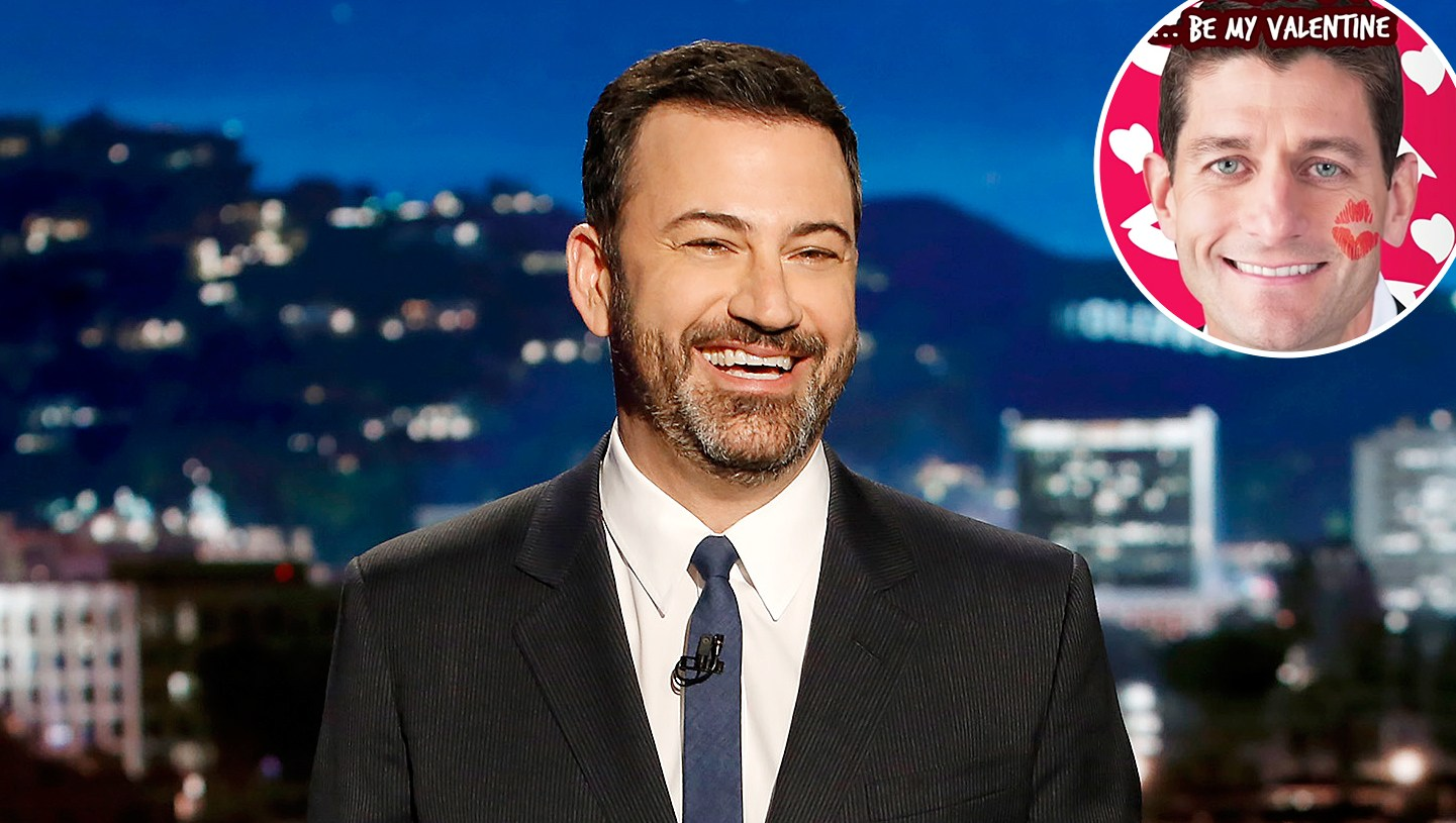 Jimmy Kimmel White House Valentines Day Paul Ryan