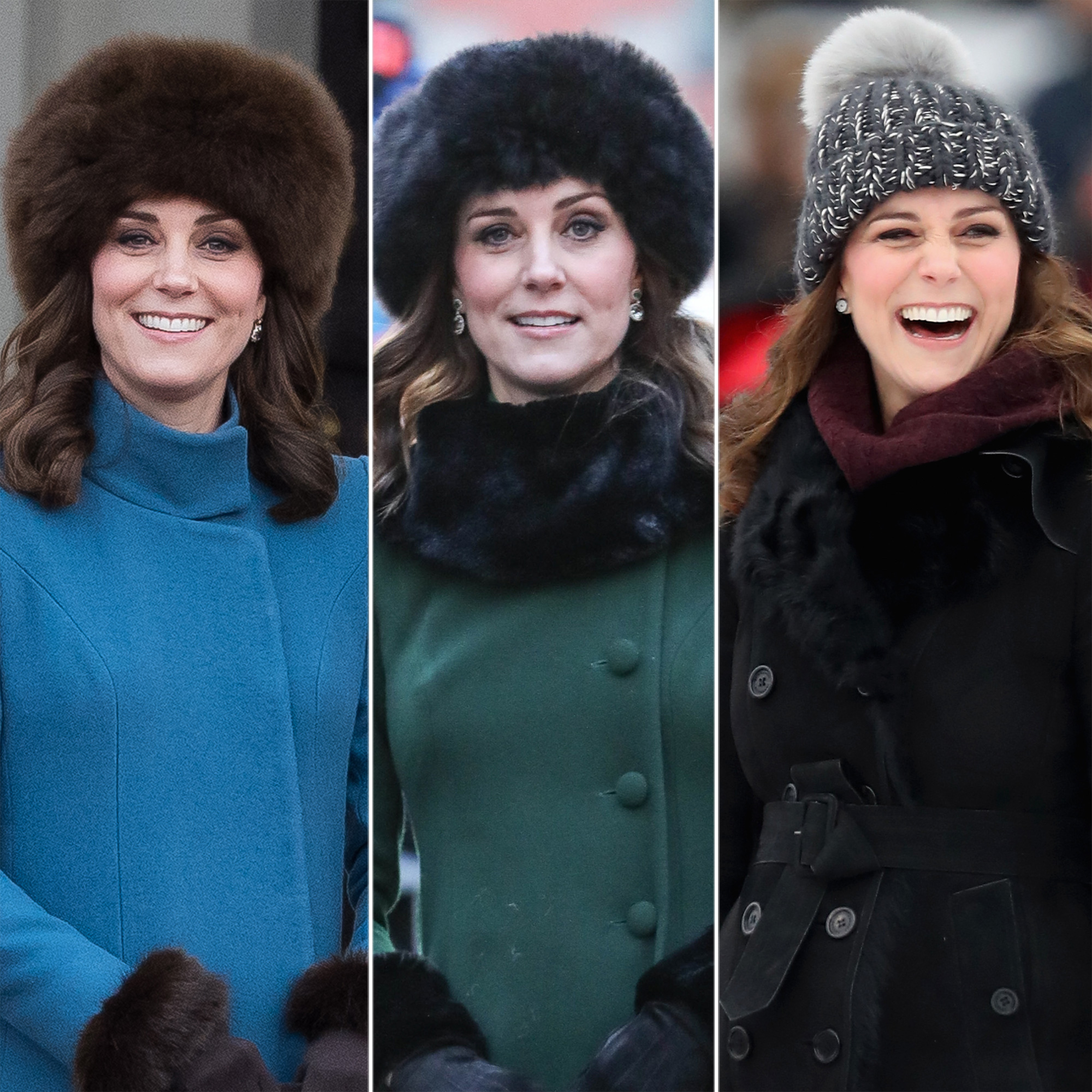 Kate Middleton winter fur hat royals