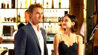 Riley Smith as Dr. Will Grant and Lucy Hale as Stella in 'Life Sentence'