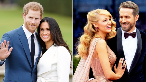Prince Harry Meghan Markle Blake Lively Ryan Reynolds Blake Shelton Gwen Stefani Brad Pitt Angelina Jolie Love Story Beginnings