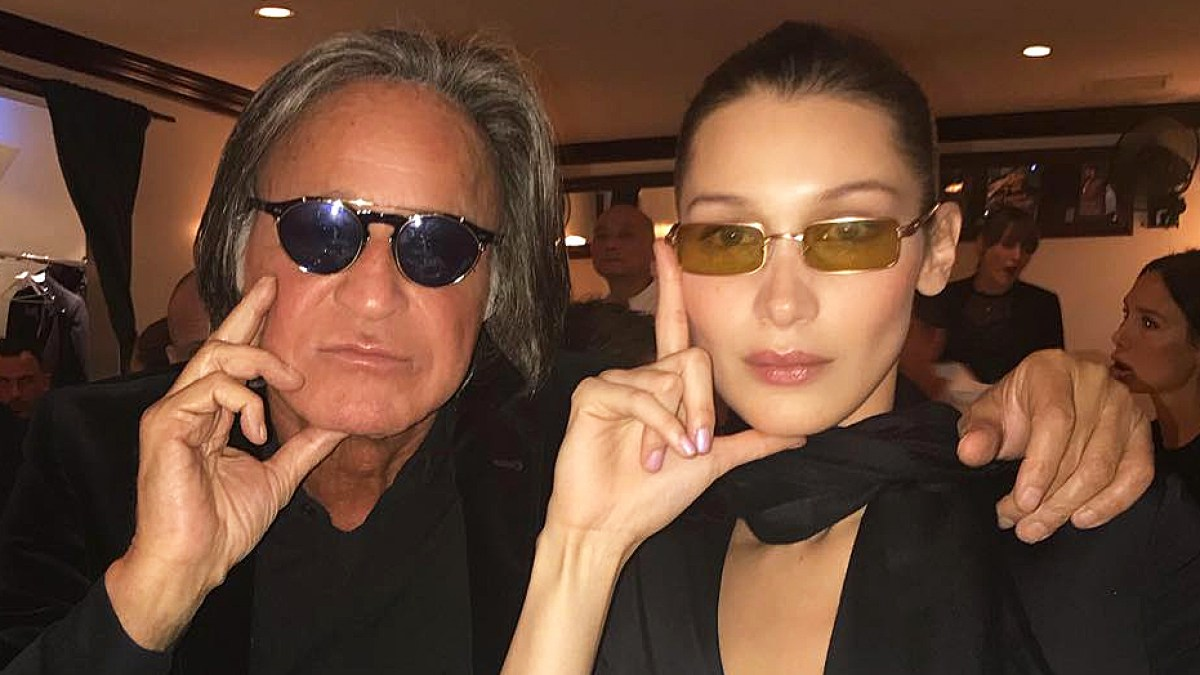 82cb8a0eb8 Mohamed Hadid and Bella Hadid Twin in Tiny Sunglasses