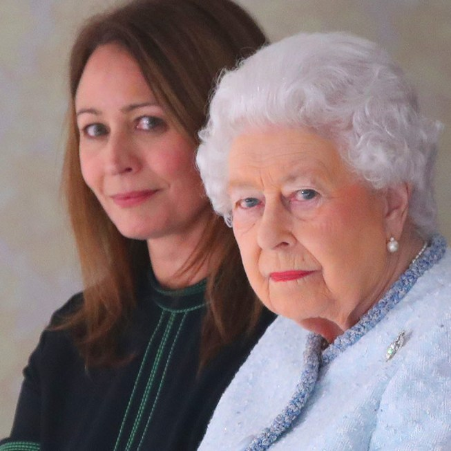 Queen Elizabeth II attends the Richard Quinn show