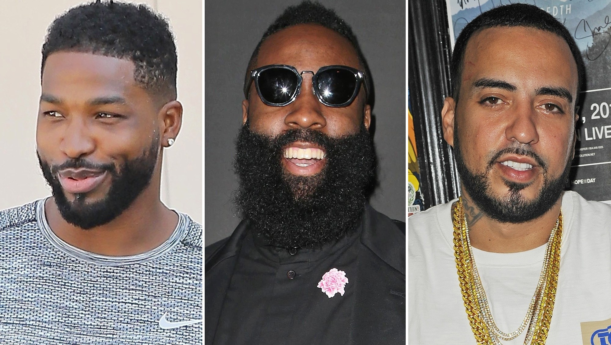 Tristan Thompson, James Harden, French Montana, Travis Scott, Khloe Kardashian