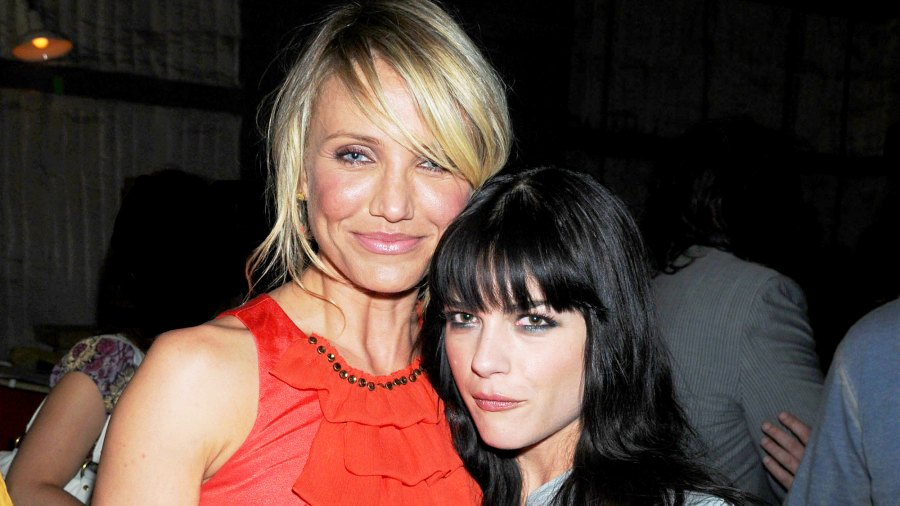 Cameron Diaz and Selma Blair attend Spike TV's 2nd Annual Guys Choice 2008 Awards at Sony Studios in Culver City, California.