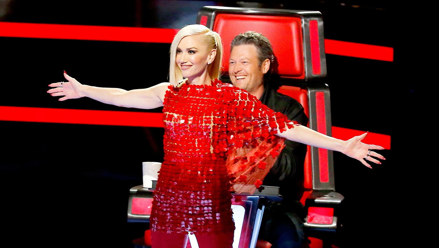 Gwen Stefani and Blake Shelton on 'The Voice'