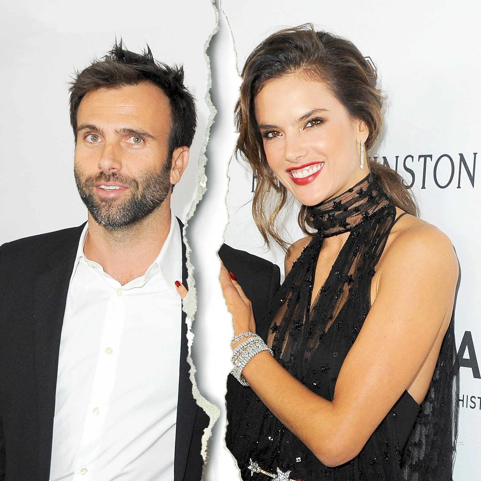 Alessandra Ambrosio and Jamie Mazur arrive at amfAR's Inspiration Gala 2015 Los Angeles at Milk Studios in Hollywood, California.