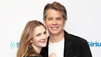 Drew Barrymore and Timothy Olyphant visit the SiriusXM studio in New York City.