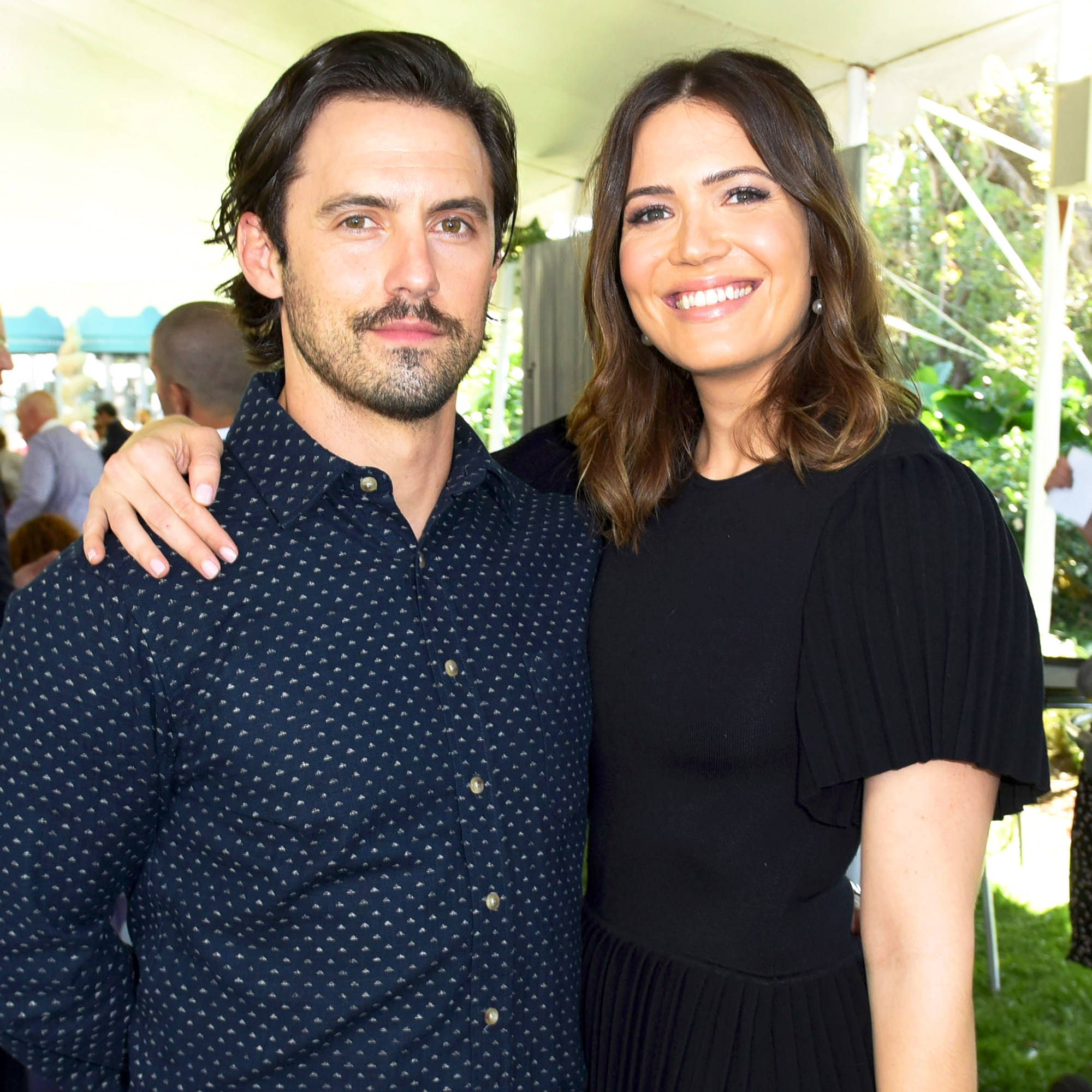 Milo Ventimiglia and Mandy Moore attend The Rape Foundation's Annual 2017 Brunch in Beverly Hills, California.