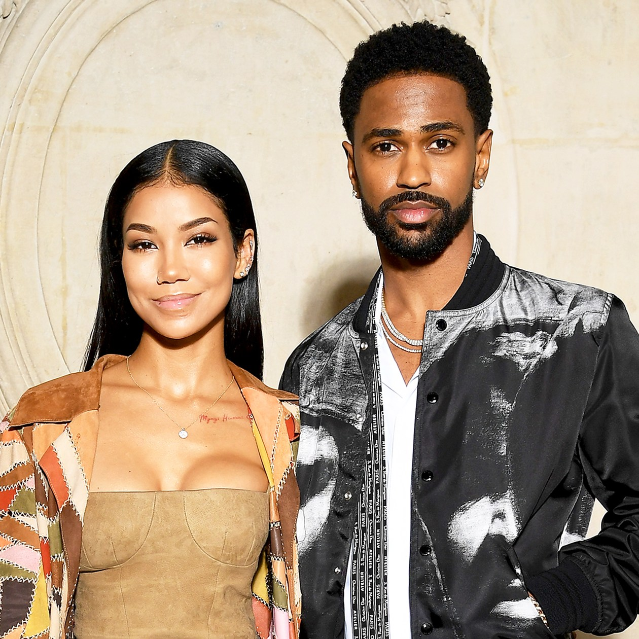 Jhene Aiko and Big Sean attend the Christian Dior Haute Couture Spring Summer 2018 show as part of Paris Fashion Week in Paris, France.