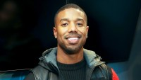 Michael B. Jordan visits at SiriusXM Studios on February 13, 2018 in New York City.