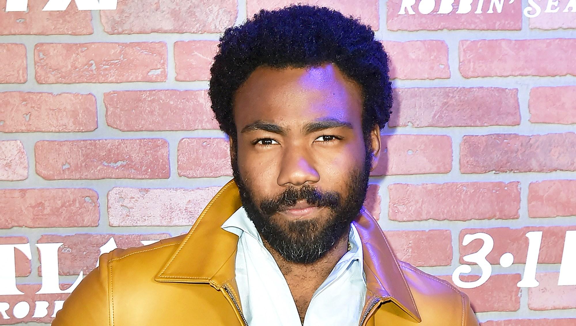 "Donald Glover attends FX's ""Atlanta Robbin' Season"" 2018 Premiere at Ace Theater in Los Angeles, California."