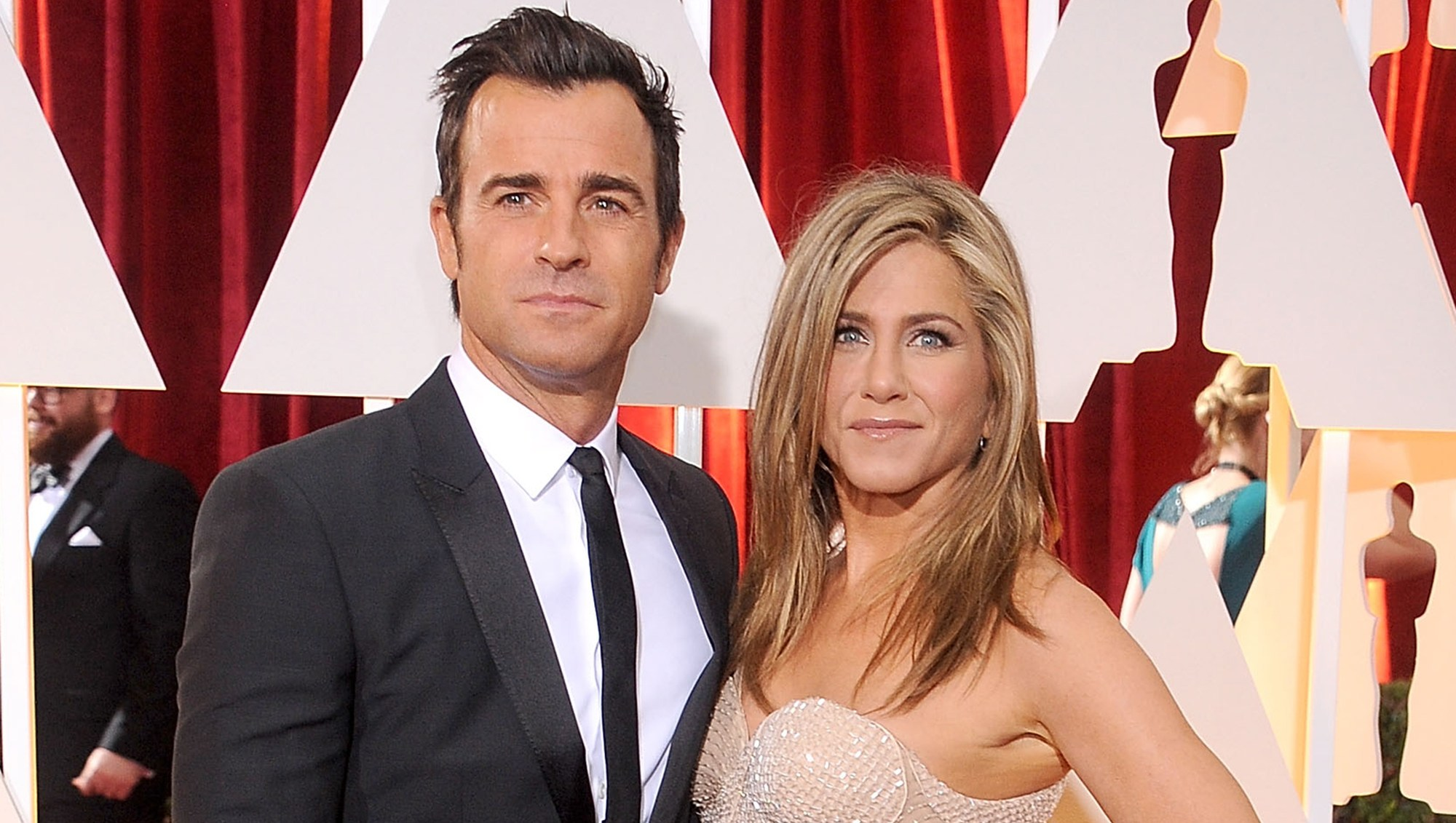 Jennifer Aniston and Justin Theroux talk once