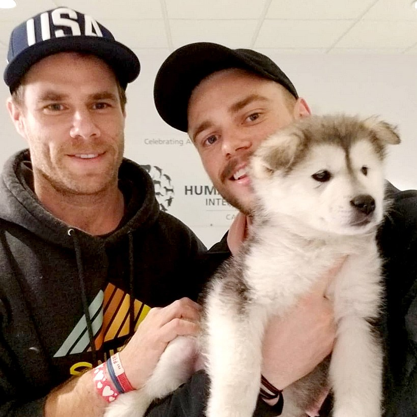 Gus-Kenworthy-Picks-Up-His-Korean-Olympics-Dog