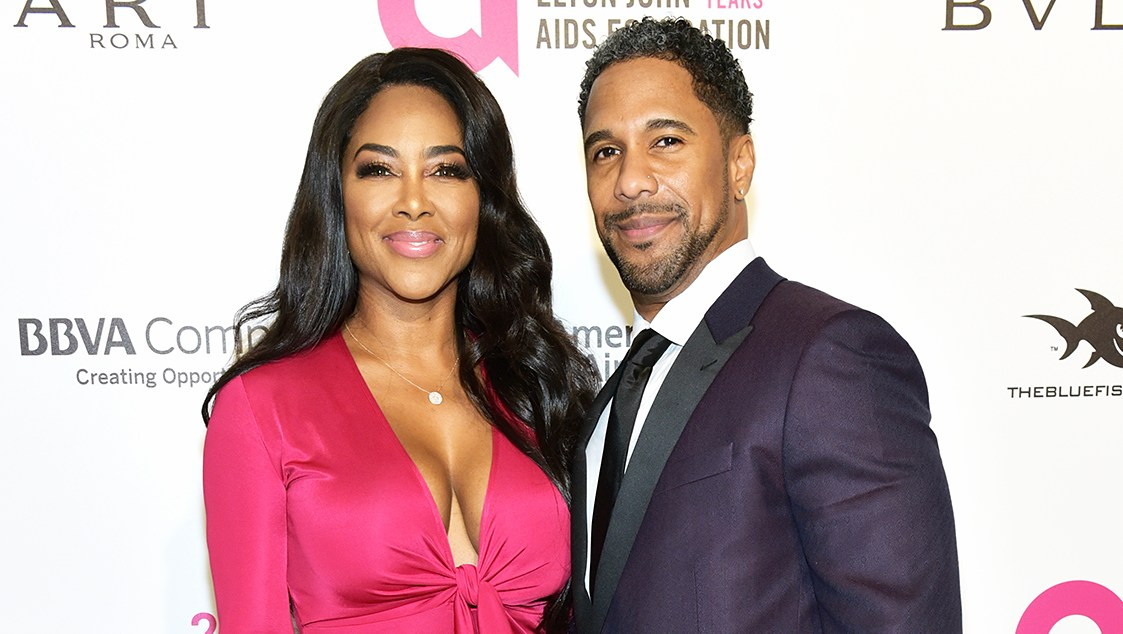 Kenya Moore Marc Daly Elton John AIDS Foundation's Academy Awards Viewing Party