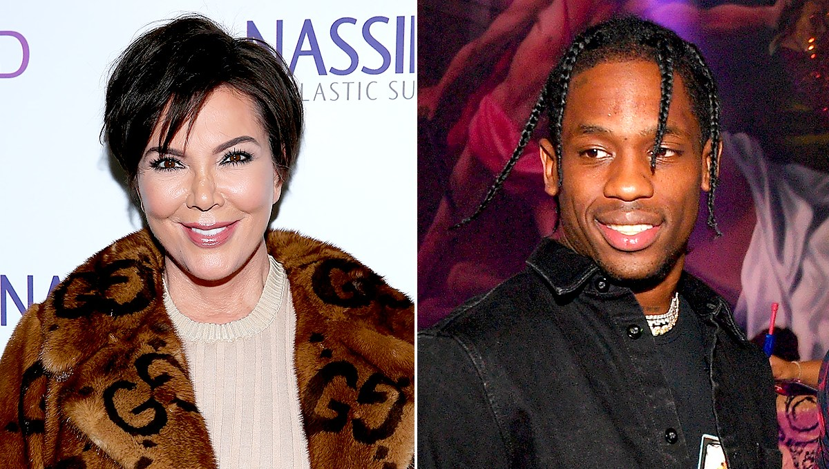 Kris Jenner and Travis Scott