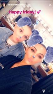 Millie Bobby Brown, Kim Kardashian, Snapchat