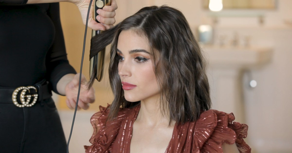 Justine Marjan Gives Olivia Culpo Curls Braid How To Hair Video