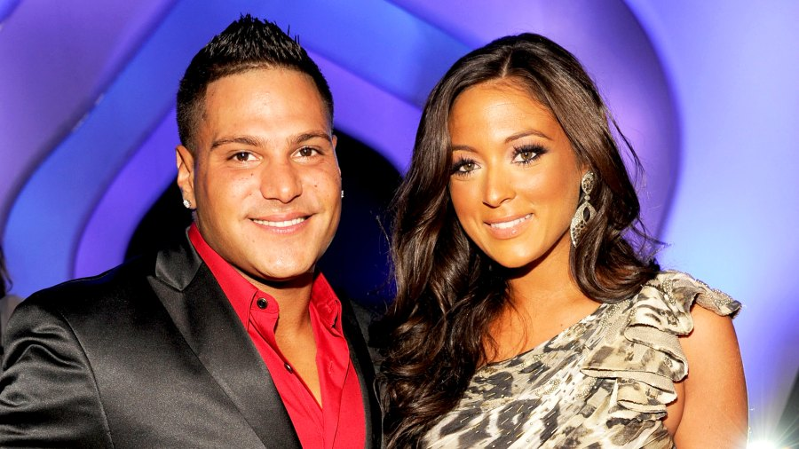 Ronnie Ortiz-Magro and Sammi 'Sweetheart' Giancola arrives at the The 28th Annual MTV Video Music Awards at Nokia Theatre L.A. LIVE in Los Angeles, California.