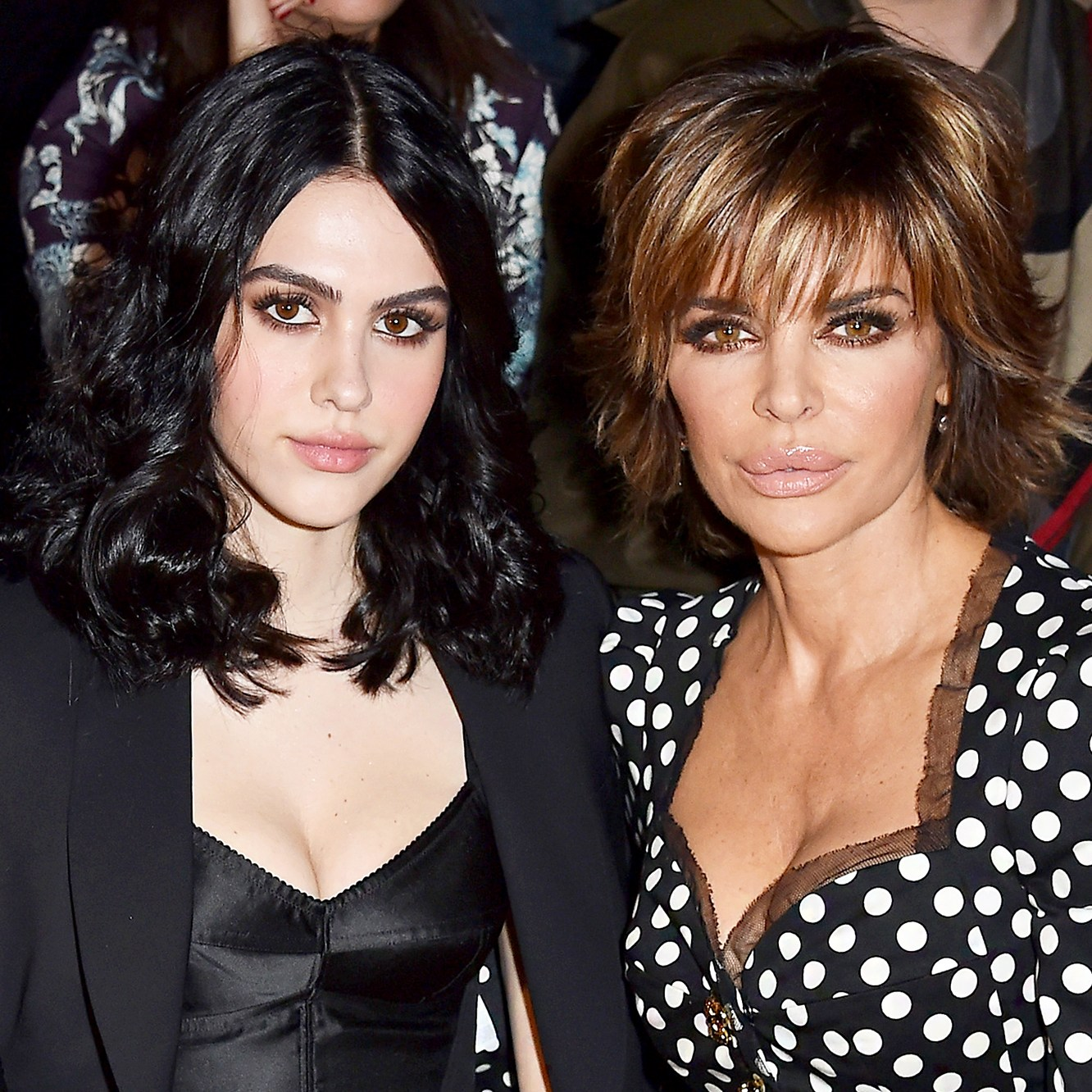 Amelia Gray Hamlin and Lisa Rinna attend the Dolce & Gabbana show during Milan Fashion Week Fall/Winter 2017/18 in Milan, Italy.