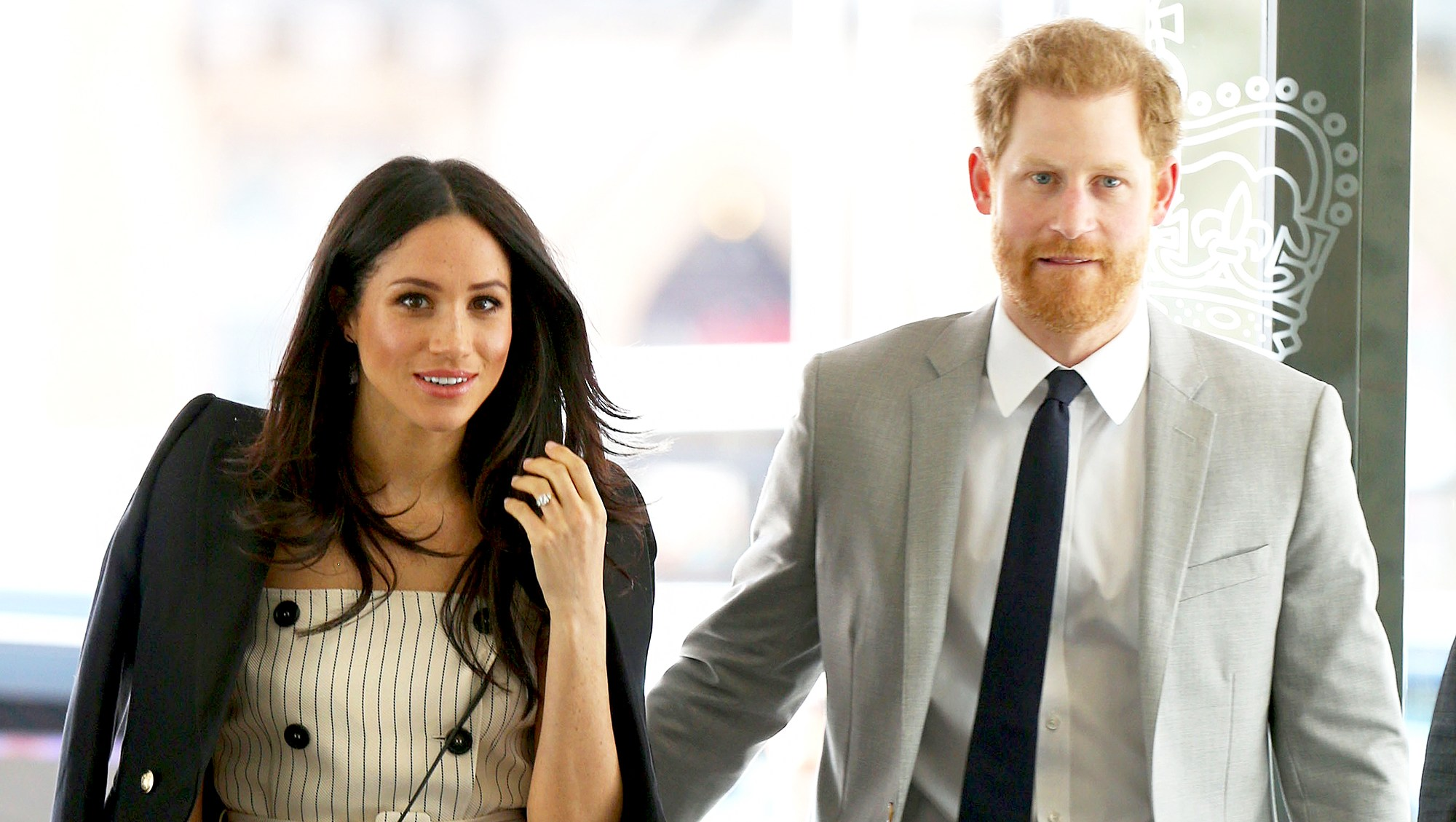 Prince Harry and Meghan Markle arrive to attend a reception with delegates from the Commonwealth Youth Forum in central London on April 18, 2017.