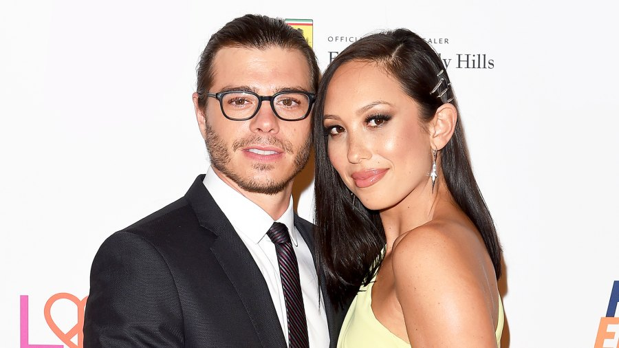 Matthew Lawrence and Cheryl Burke arrive at the 25th Annual Race to Erase MS Gala at The Beverly Hilton Hotel on April 20, 2018 in Beverly Hills, California.