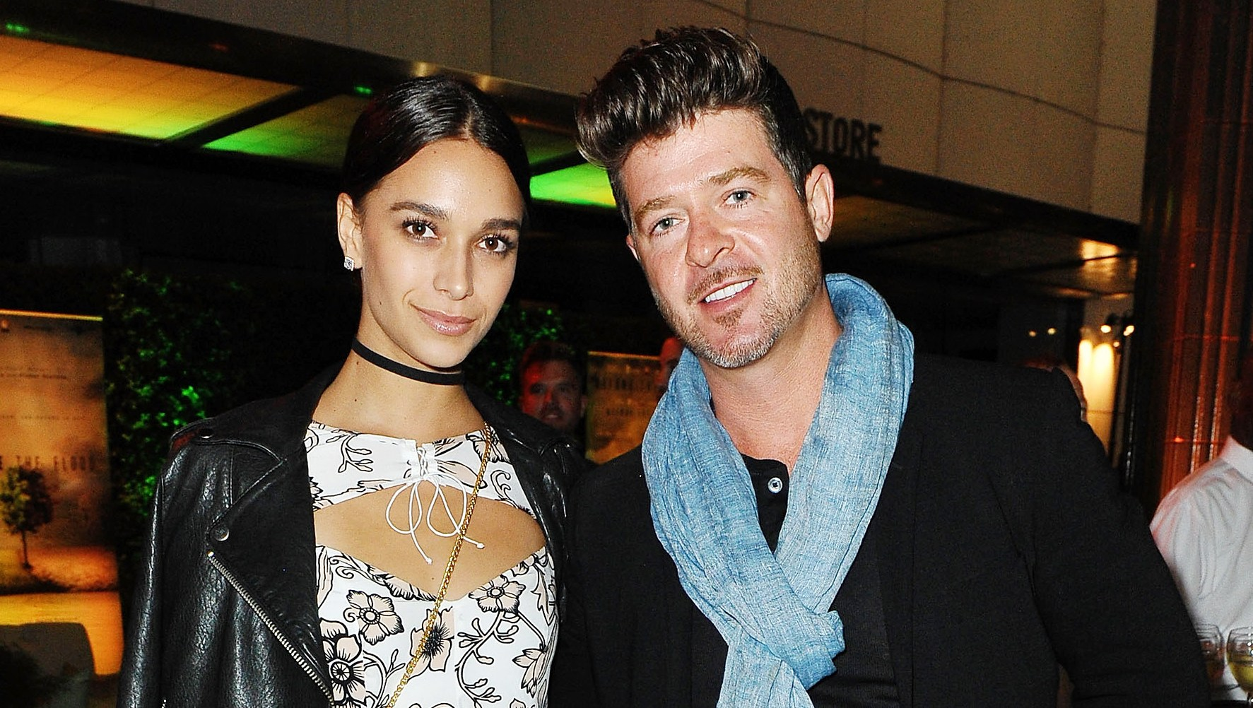 Robin Thicke April Love Geary breastfeeding photo