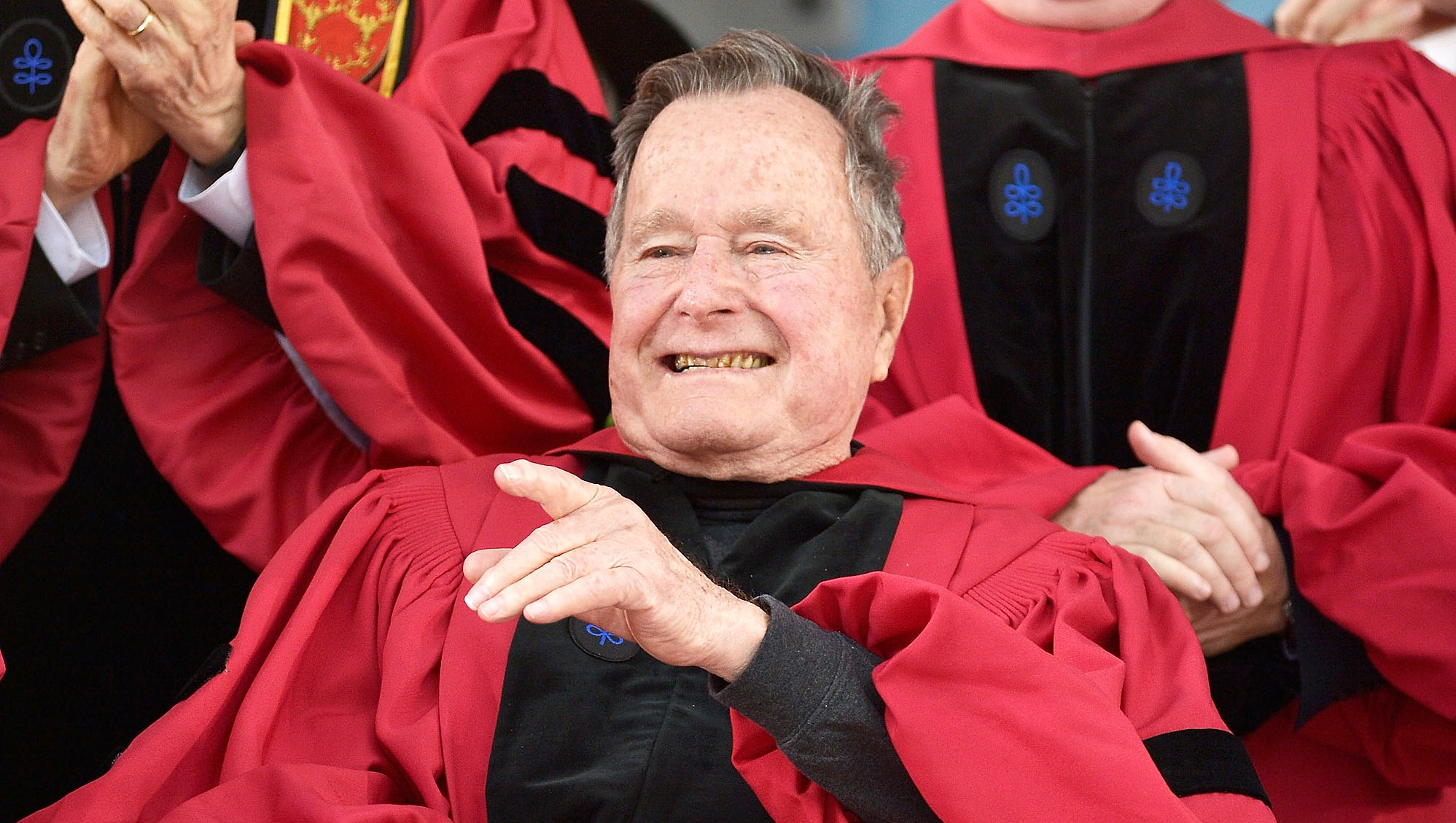 George H.W Bush's health improving